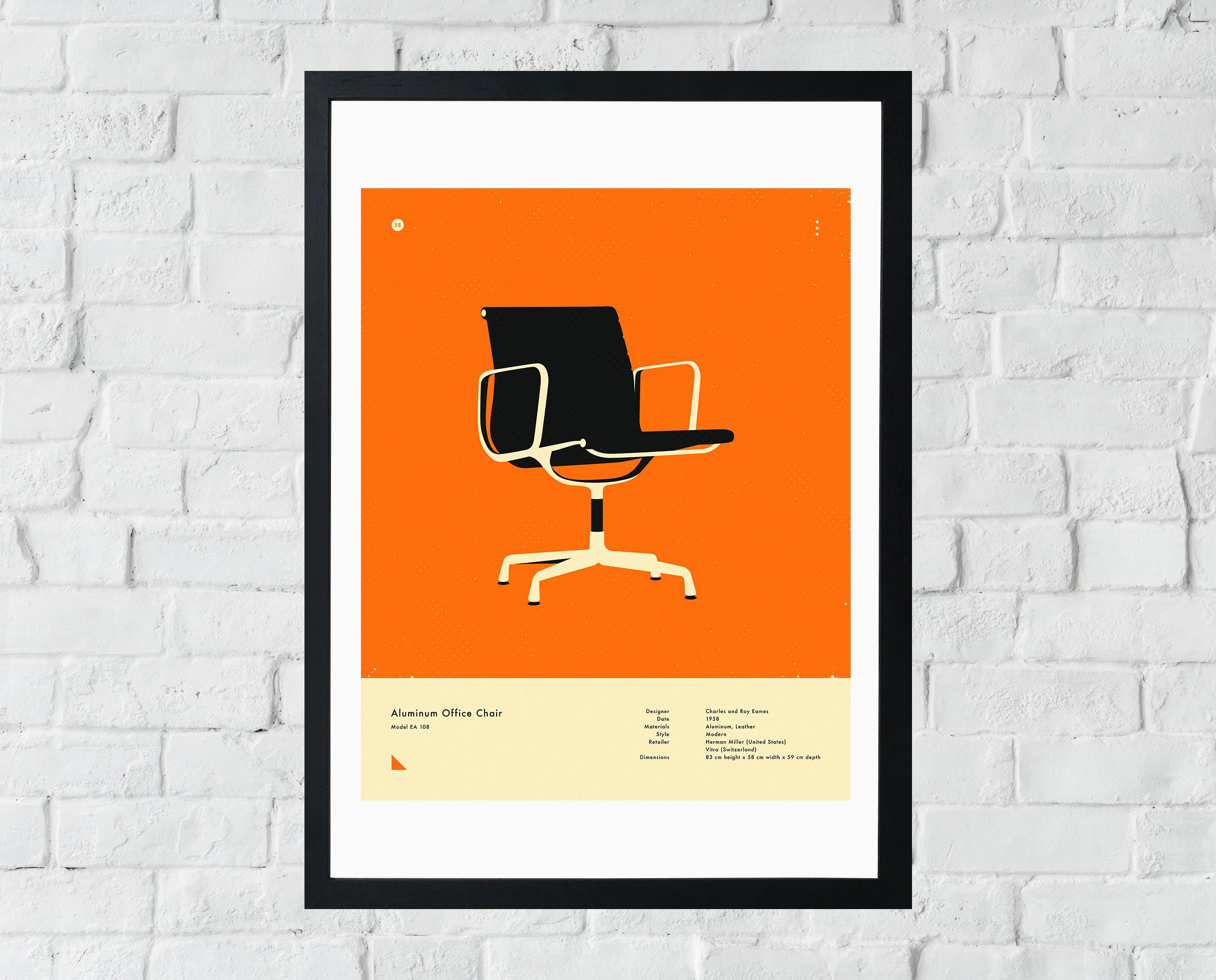 Orange 108 Office Chair Print by Jazzberry Blue